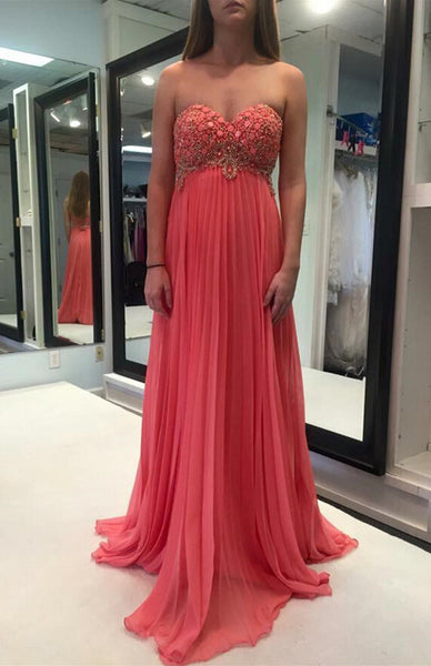 High Waist Prom Dress Evening Gown pst0628