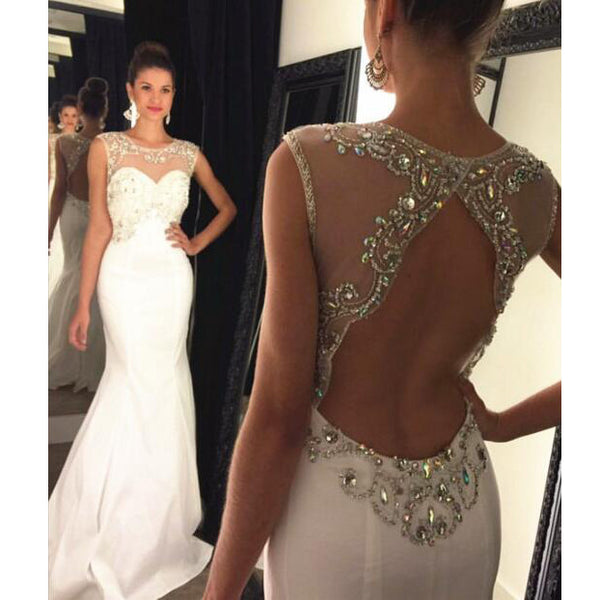 Backless Prom Dress Mermaid Style pst0664