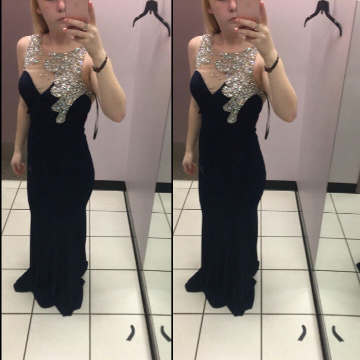Black Long Dress For Prom Evening Party Gown pst0696