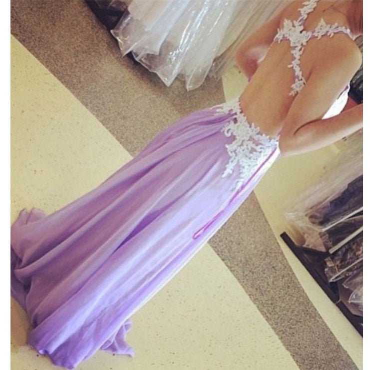 Backless Prom Dress Evening Party Dress pst0717