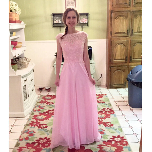 Elegant Pink Prom Dress Evening Party Dresses Long To Floor pst0727