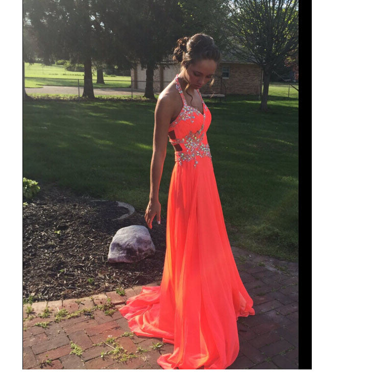 Long Chiffon Prom Dress Cocktail Evening Party Dresses pst0756
