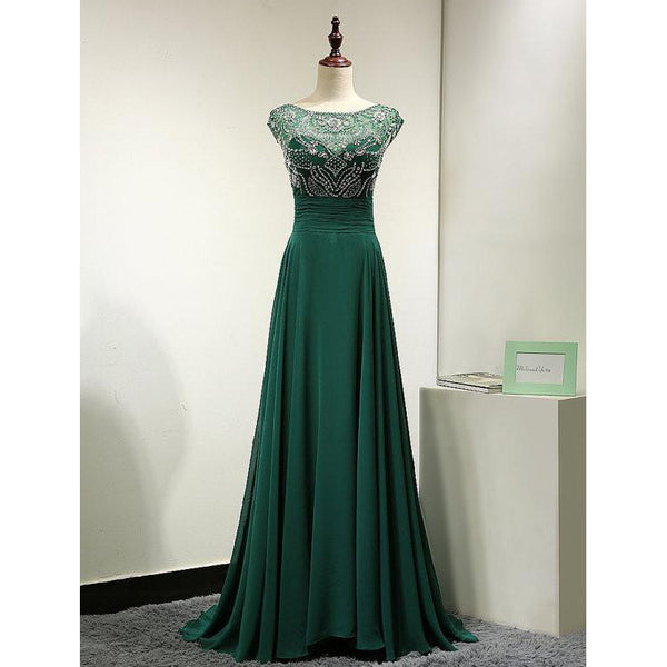 Dark Green Prom Dress Evening Party Gown pst0769
