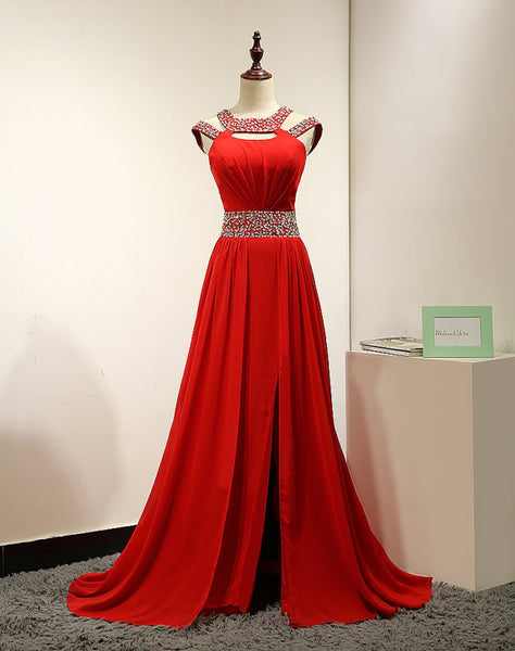 Long Red Prom Dress Prom Dresses Evening Party Dress pst0771