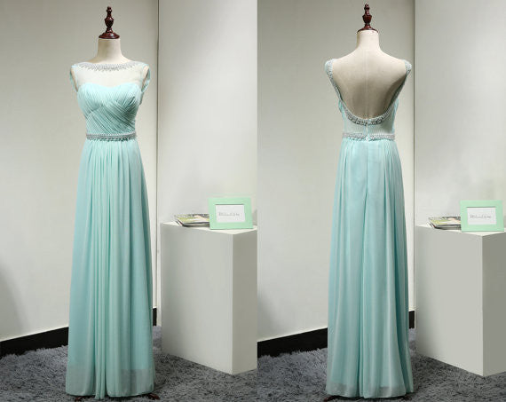 Backless Prom Dress Evening Party Dress pst0777