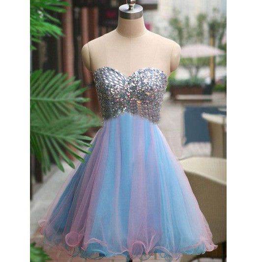 Red Short Prom Dress Homecoming Dresses pst0788