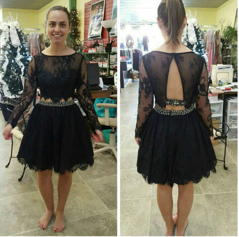 Black Homecoming Dress Short Prom Dresses pst0801