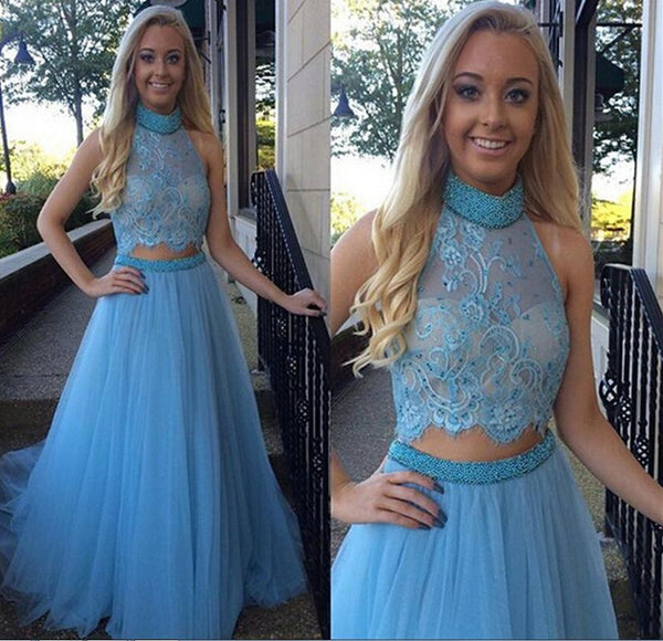 Two Pieces Prom Dresses Ball Gown Party Dress pst0813