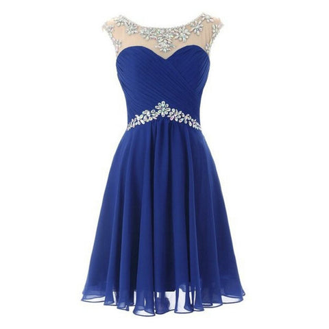 Blue Homecoming Dress Short Prom Party Dresses pst0855