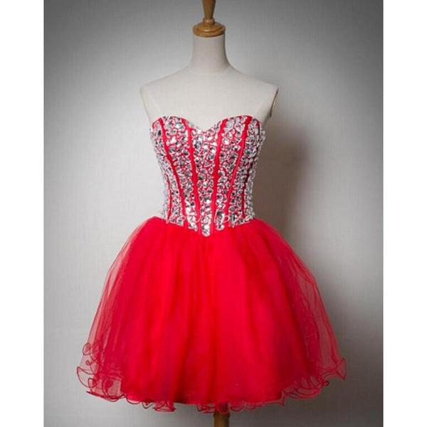 Red Homecoming Dress Prom Dress pst0856