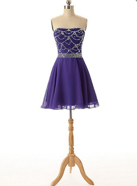 Homecoming Dress Homecoming Dresses Purple Color pst0862