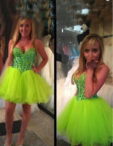 Green Homecoming Dress Short Prom Pary Dresses pst0870
