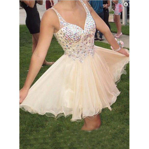 Homecoming Dress V Neckline Short Prom Party Gown pst0874