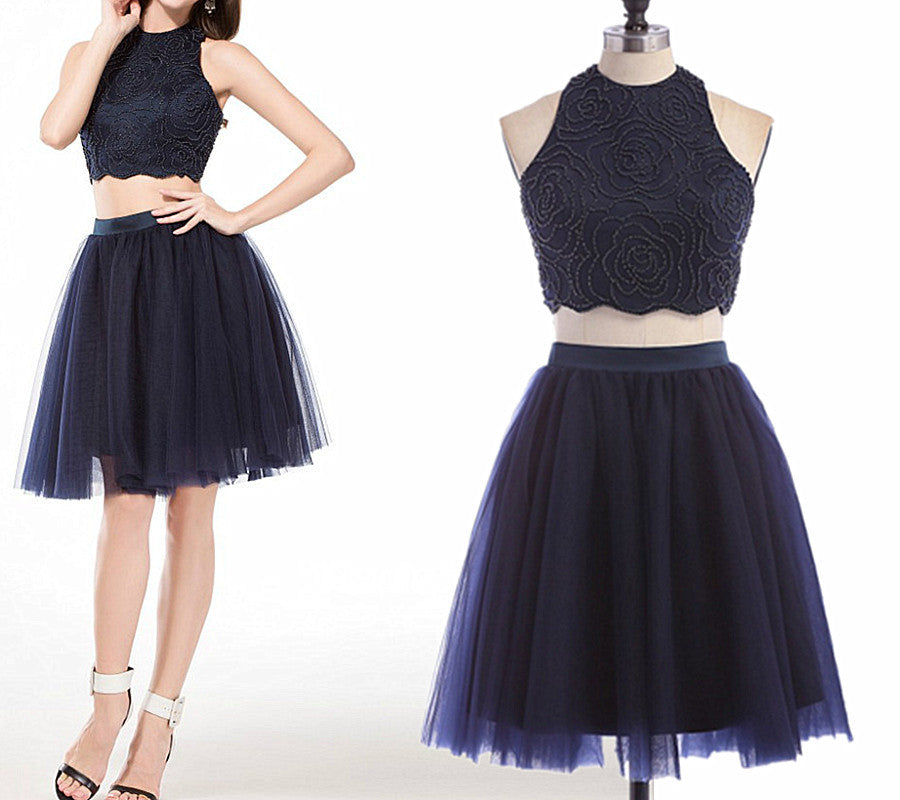 Two Pieces Homecoming Dress pst0895