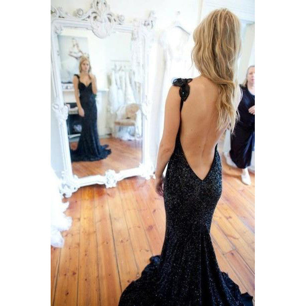 Backless Lace Prom Dress Evening Party Dresses pst0899