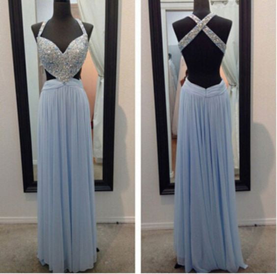 Sexy Backless Prom Dress Evening Party Dresses pst0926