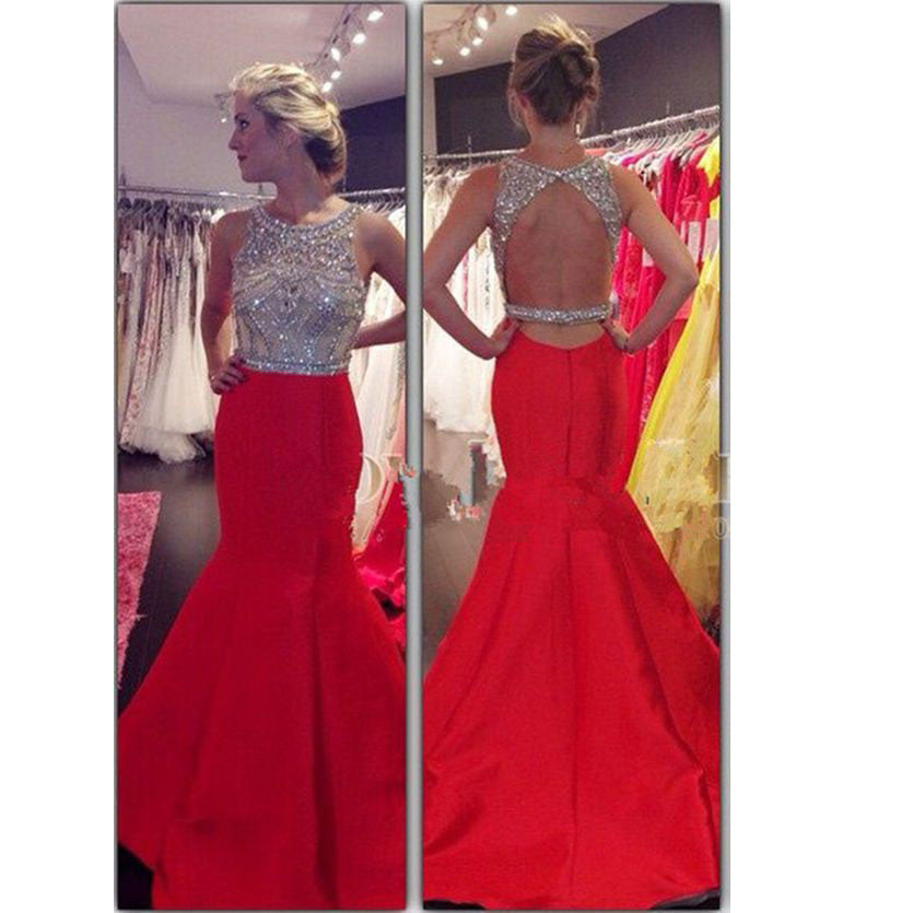 Backless Prom Wear Prom Dresses Long To Floor pst0943