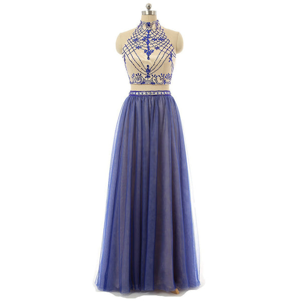 Two Pieces Prom Dresses Formal Dress Party Gown pst0948