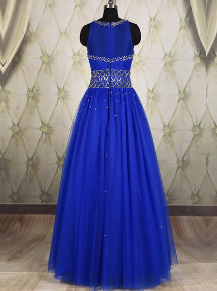 Royal Blue Prom Dress Formal Wear Party Gown pst0958