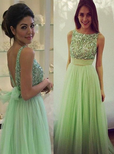 Green Prom Dress Long Party Ball Gown pst0963