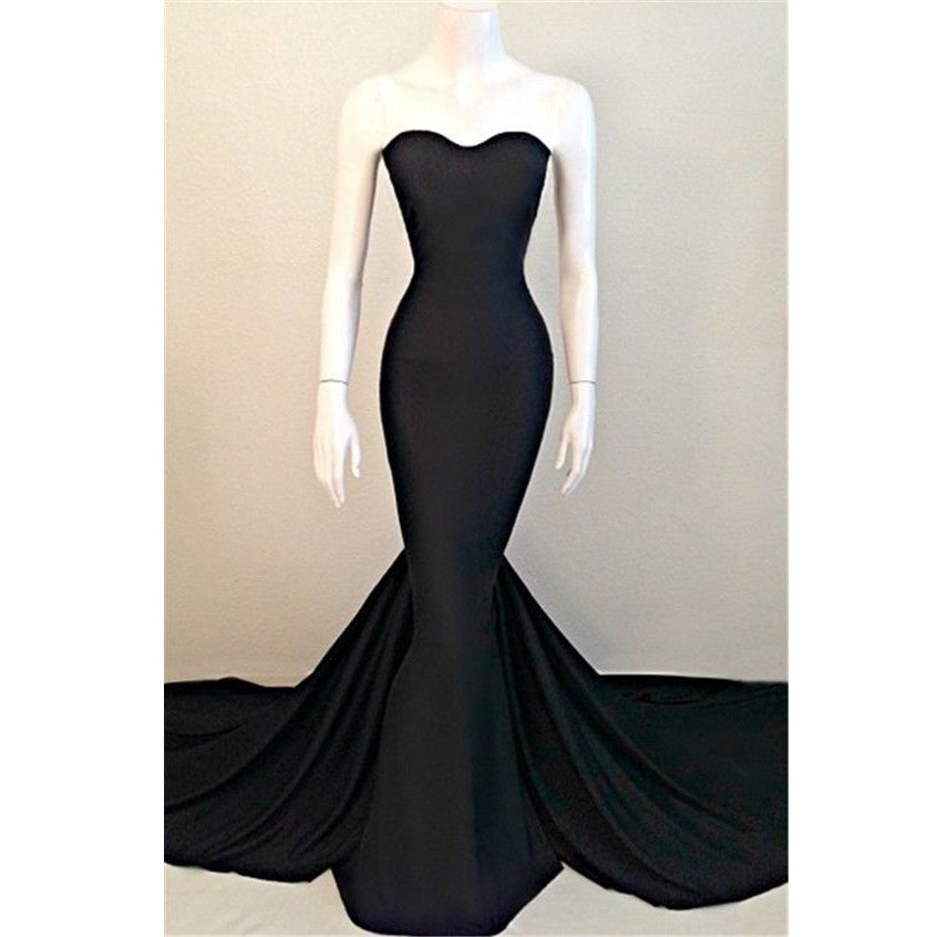 Black Prom Dress Mermaid Prom Dresses pst0980
