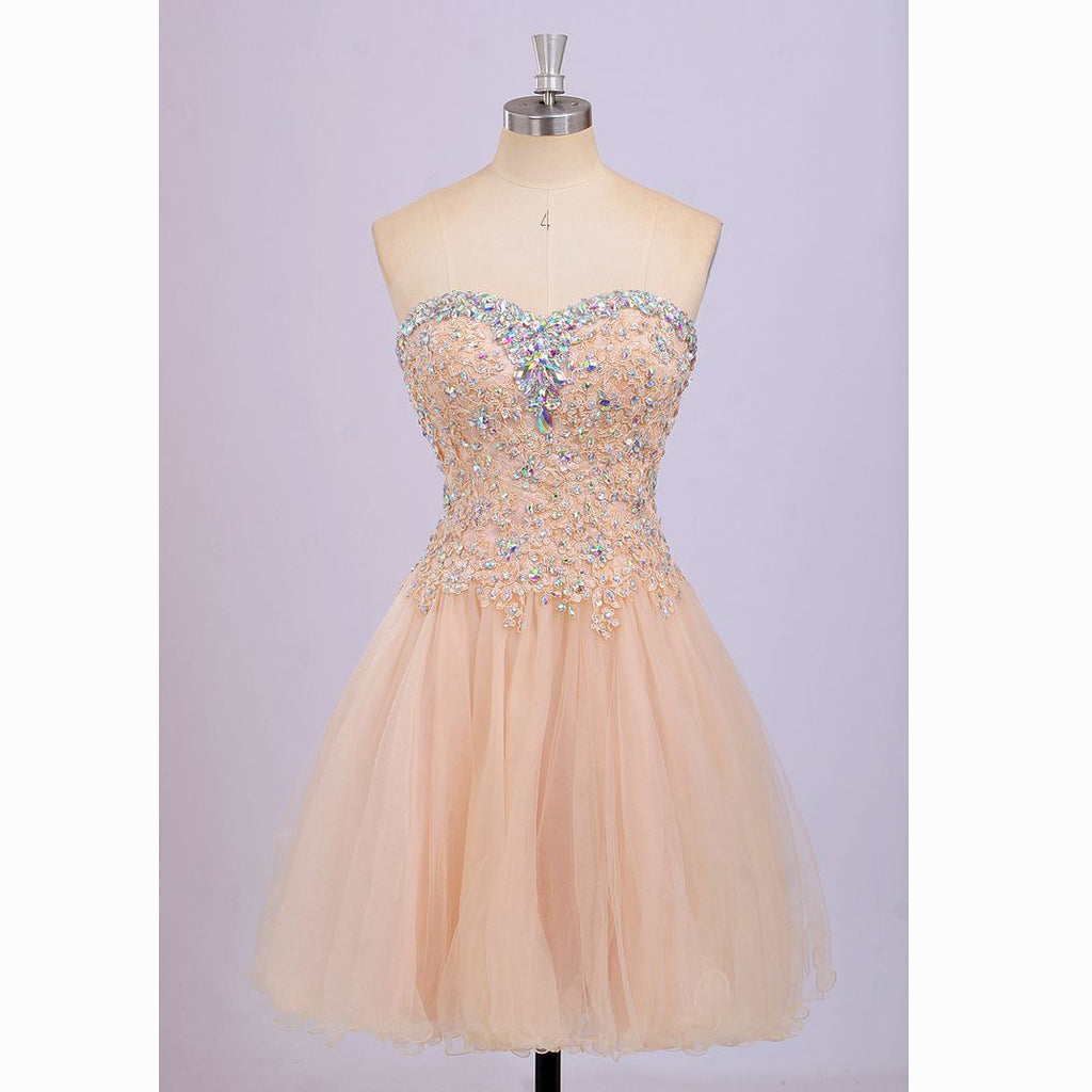 Homecoming Dress V Neckline Short Evening Party Dresses pst1008