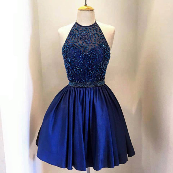 Blue Homecoming Dress Short Prom Party Dresses pst1018