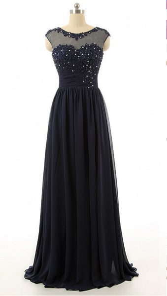 Modest Prom Dress Long For Party pst1029