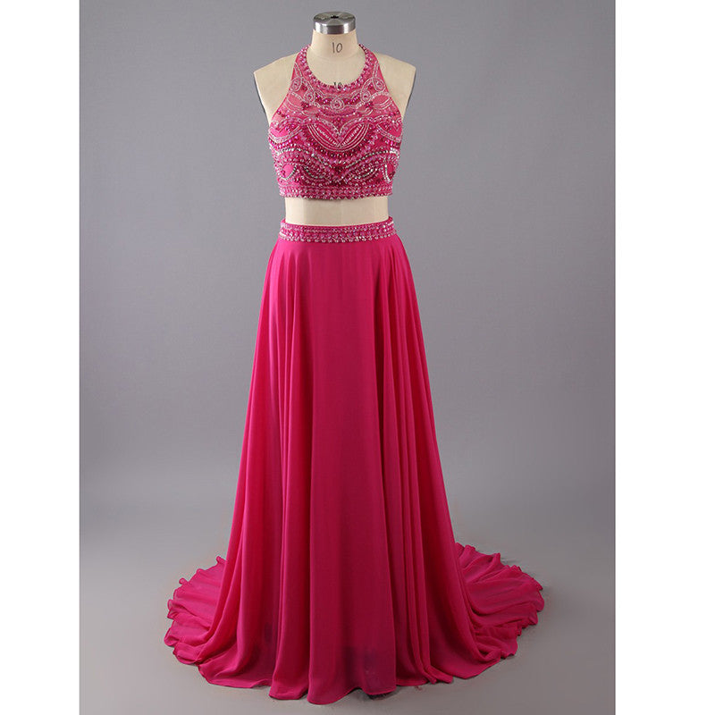 Prom Dresses Two Pieces Evening Party Gown pst1039