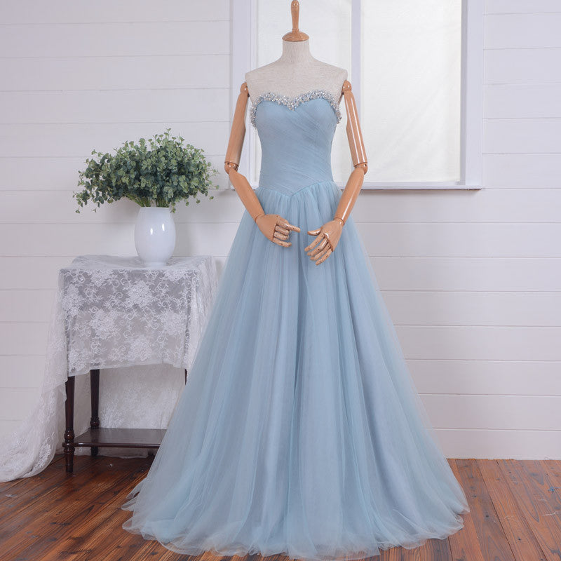 Strapless Prom Dress Sweetheart Neckline Prom Dresses pst1209