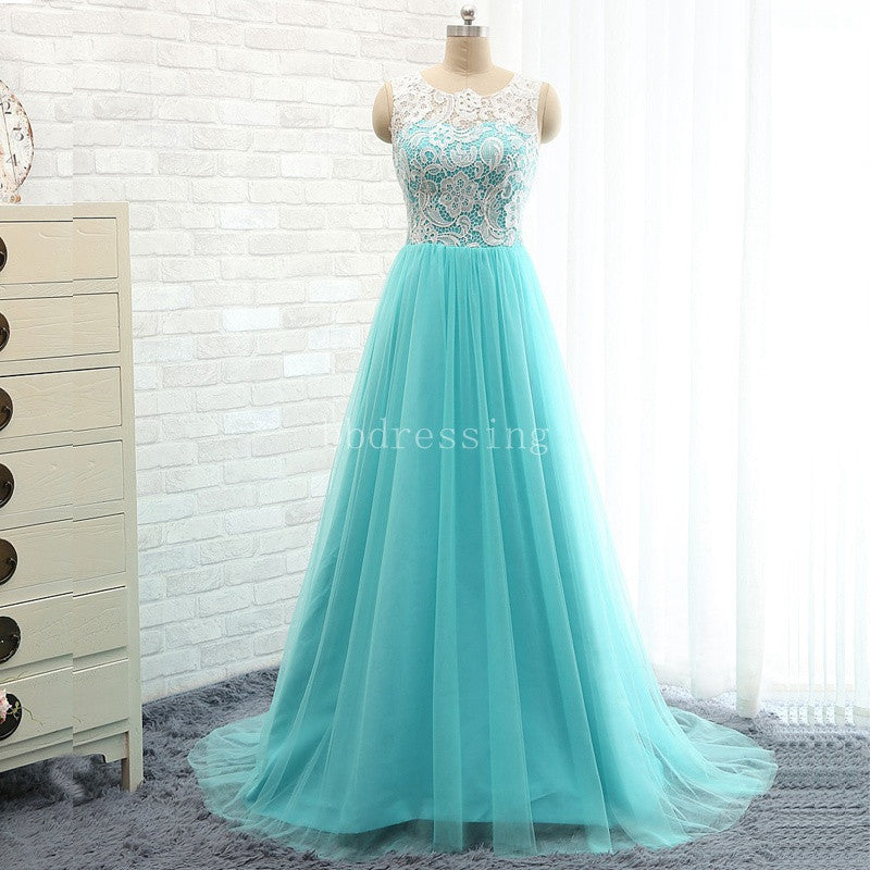 Amazing Prom Dress Lace Top Prom Dresses Party Gown pst1267