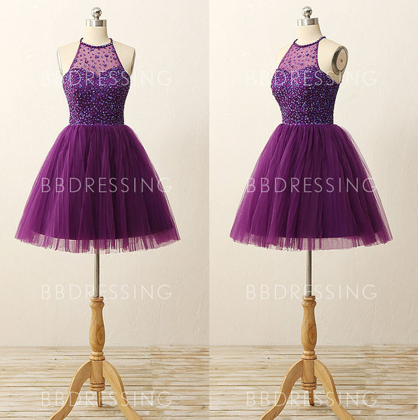 2016 Purple Homecoming Dress Short Prom Dresses Sweet 16 Dress Graduation Dress Semi Formal Dress pst1316