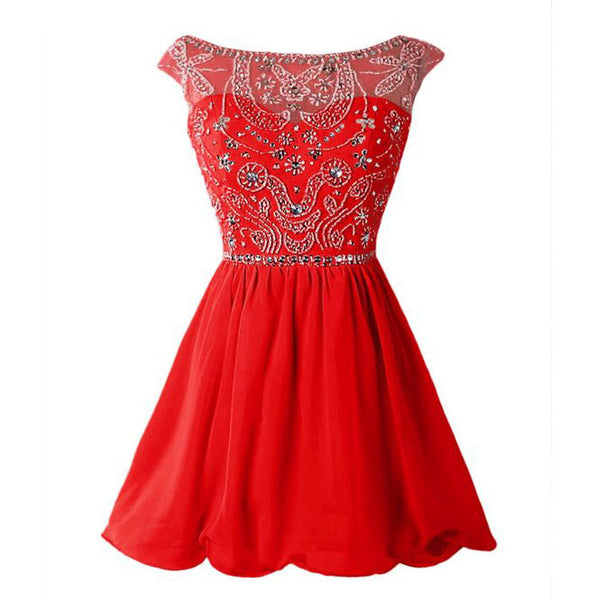 Red Homecoming Dresses Short Prom Dresses pst1330