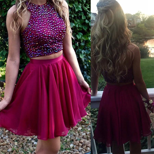 Two Pieces Homecoming Dresses Short Party Dress for Prom pst1347