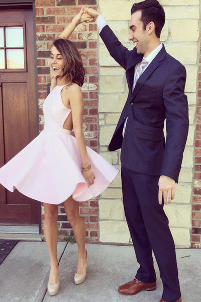 2016 Pink Homecoming Dresses Short Prom Dress For Pageant pst1360