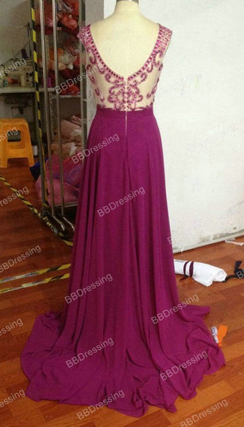 New Fashion Beaded Prom Dress Evening Party Gown pst1363