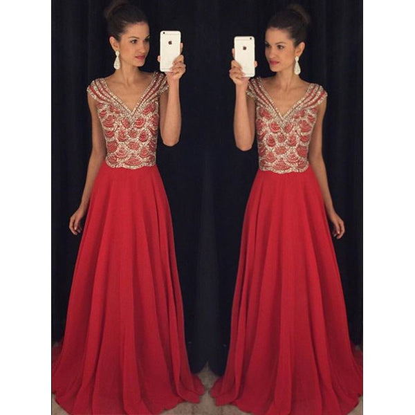 Red Prom Dress Prom Dresses Wedding Party Gown Cocktail Formal Wear pst1424