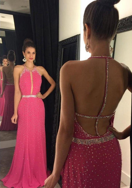 Backless Prom Dress Sexy Party Gown Cocktail Formal Wear pst1437