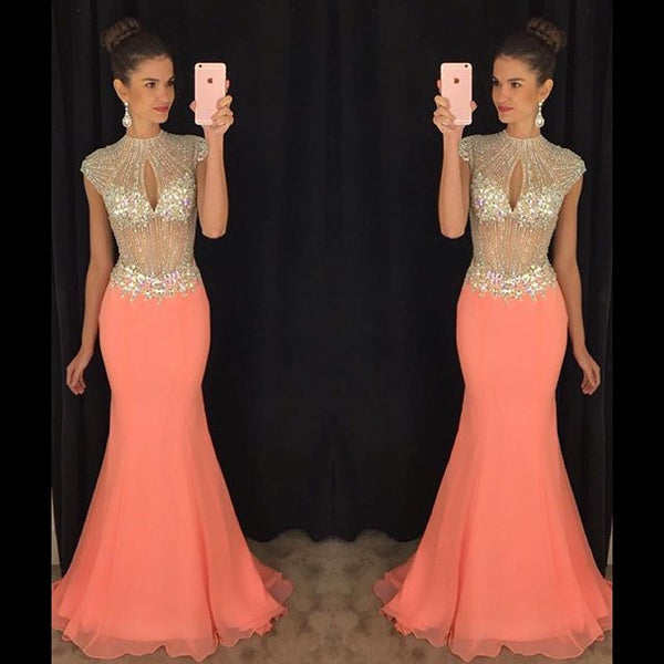 Backless Mermaid Prom Dress Wedding Party Gown Cocktail Formal Wear pst1446
