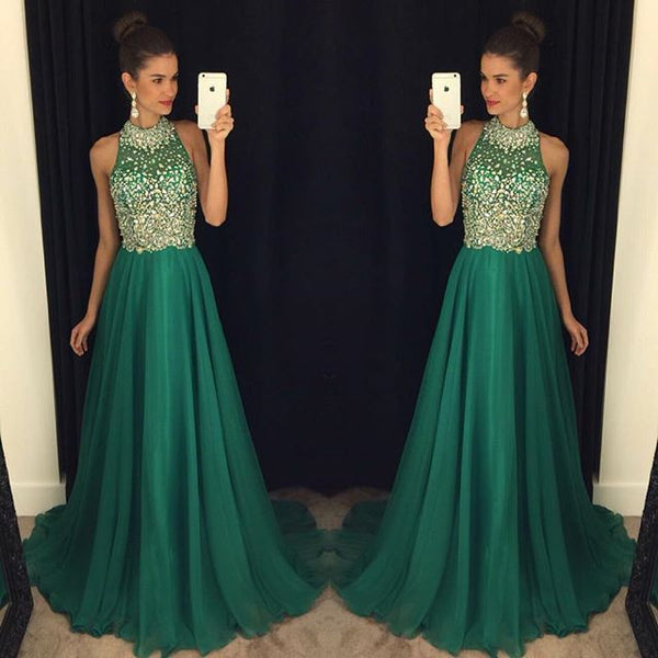 Halter Neckline Prom Dress Prom Dresses Cocktail Formal Wear pst1463