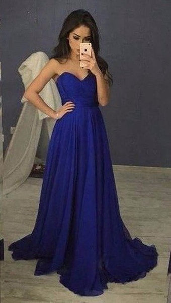 Simple Prom Dress Long Party Gown Cocktail Formal Wear pst1474