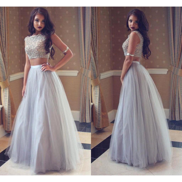 Two Pieces Prom Dress Party Gown Cocktail Formal Wear pst1505