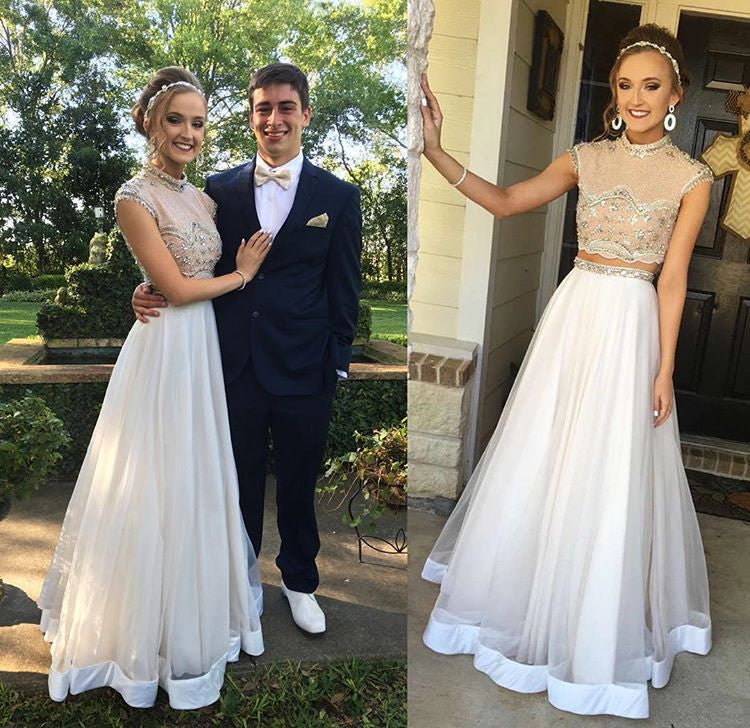 Two Pieces Prom Dress Party Gown Cocktail Formal Wear pst1514