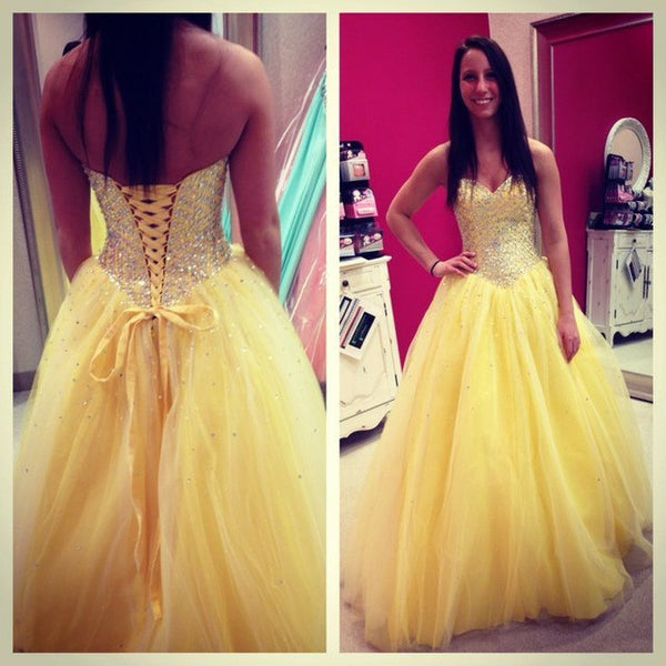 Yellow Prom Dress Ball Gown pst1532