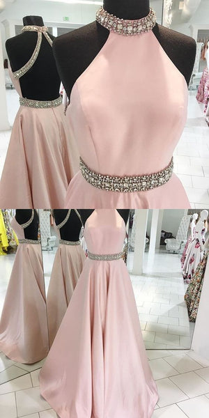 Backless Prom Dress High Neckline, Prom Dresses, Party Gown, Graduation Dresses, Formal Dress For Teens, pst1593