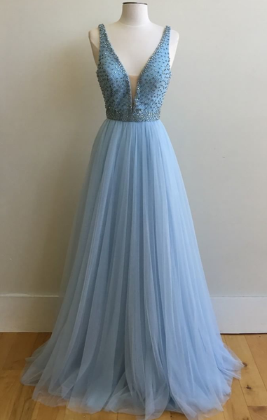 Fashionable V Neckline Prom Dress , Prom Dresses, Party Gown, Graduation Dresses, Formal Dress For Teens, pst1594