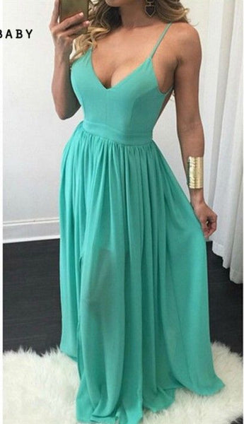 Simple Sexy Prom Dress with Thin Straps, Prom Dresses, Party Gown, Graduation Dresses, Formal Dress For Teens, pst1597