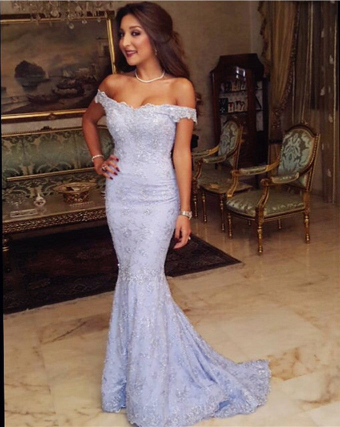 Mermaid Lace Prom Dress, Prom Dresses, Party Gown, Graduation Dresses, Formal Dress For Teens, pst1605