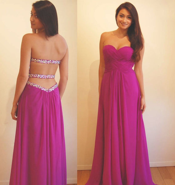 Sexy Backless Prom Dress 2017 Sweetheart Neckline, Prom Dresses, Party Gown, Graduation Dresses, Formal Dress For Teens, pst1610