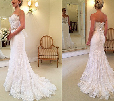 Mermaid Lace Wedding Dresses pst2022
